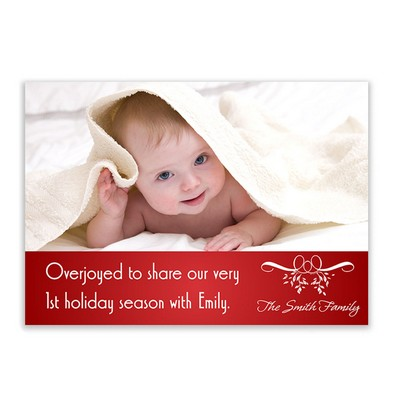 1st Holiday Season Family Photo Card