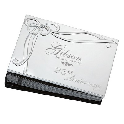 25th Wedding Anniversary Personalized Lenox Silver Plated 4x6 Photo Album