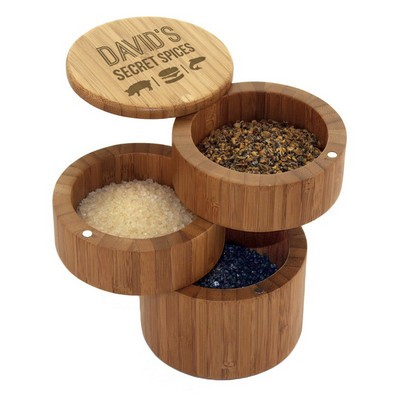 3-Tiered Secret Spices Bamboo Storage Box