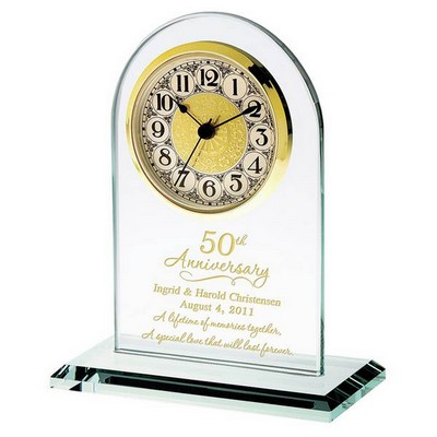 50th Anniversary Personalized Glass Clock