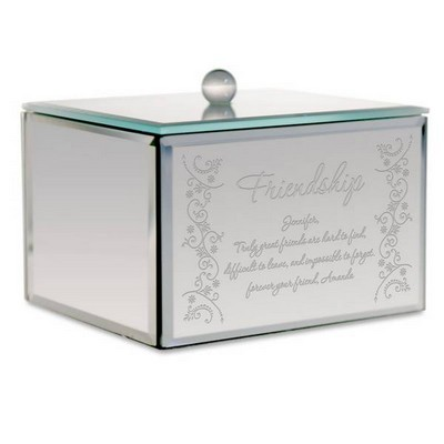 Personalized Friendship Mirror Trinket Box