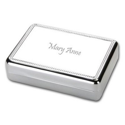 Elegant Silver Ladies Jewelry Box