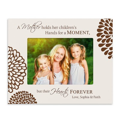 A Mothers Love Personalized White 4x6 Photo Frame