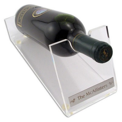Elegant Clear Acrylic Wine Holder with Nameplate
