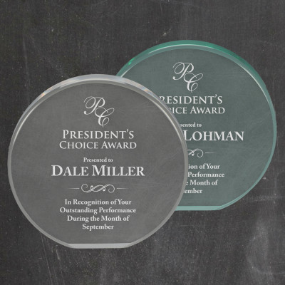 Personalized Circle Acrylic Award