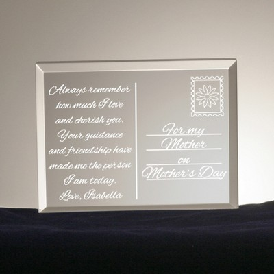 Mothers Day Postcard from the Heart Acrylic Keepsake