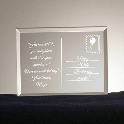 Birthday Postcard from the Heart Acrylic Keepsake