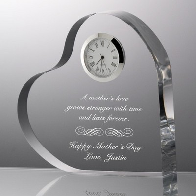 Mothers Love Acrylic Clock