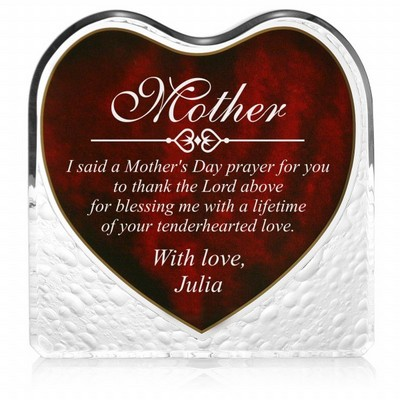 Personalized Mothers Day Heartfelt Plaque
