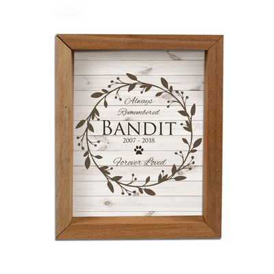 Always Remembered Personalized Pet Memorial Shadow Box