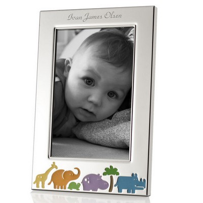 Lenox Animal Jungle Personalized 4x6 Baby Picture Frame