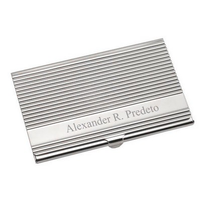 Silver Modern Sophisticate Business Card Holder