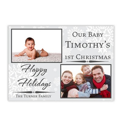 Babys 1st Christmas Family Photo Holiday Card