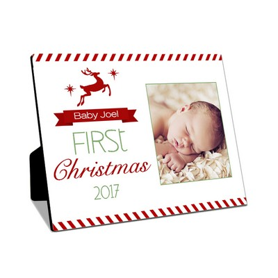 Babys First Christmas Table-top Photo Panel