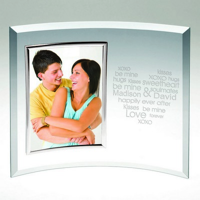 Be Mine Personalized Curved Glass Picture Frame