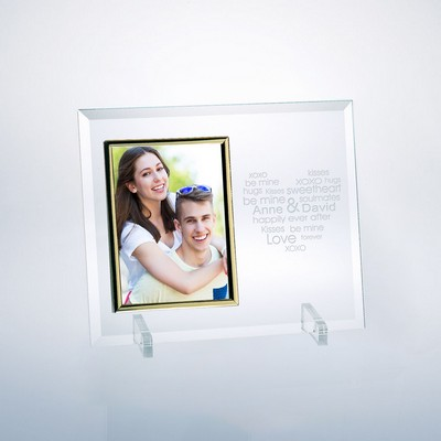 "Be Mine Personalized Glass 5"" X 7"" Picture Frame"