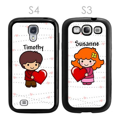 Be My Valentine Custom Character Galaxy S3-S4 Case