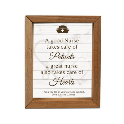 Beautiful Personalized Framed Shadow Box for Nurses