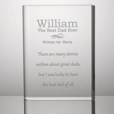 Best Dad Story Personalized Keepsake Crystal Book