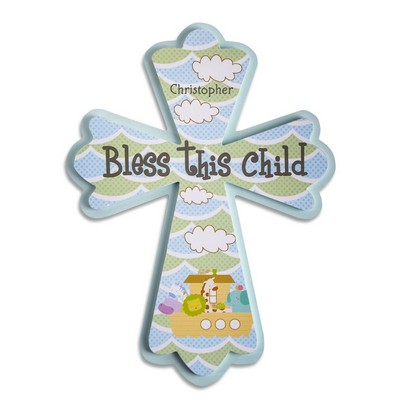 Bless This Child Personalized Wall Cross Nursery Decor