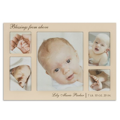 Blessings From Above Personalize Ivory Collage Photo Frame