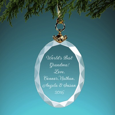 Oval Crystal Ornament