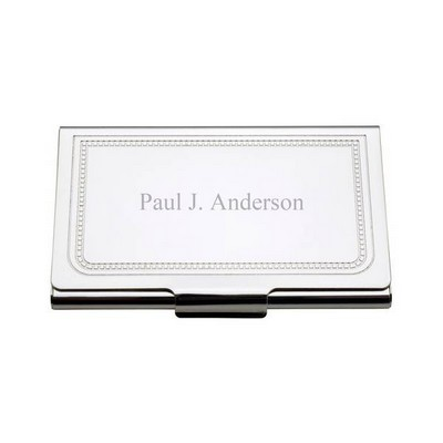 Charleston Personalized Business Card Holder