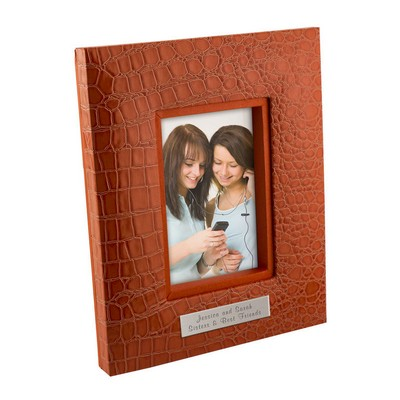 Citrus Orange Croc Personalized 5x7 Frame