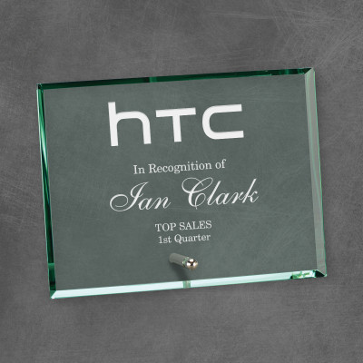 Commemorative Jade Glass Rectangle Award