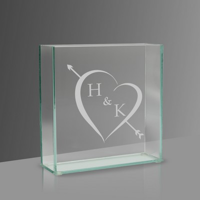 Cupids Arrow Personalized Glass Vase