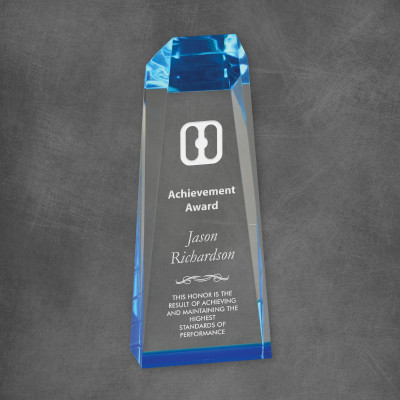 Custom Logo Executive Acrylic Obelisk Award