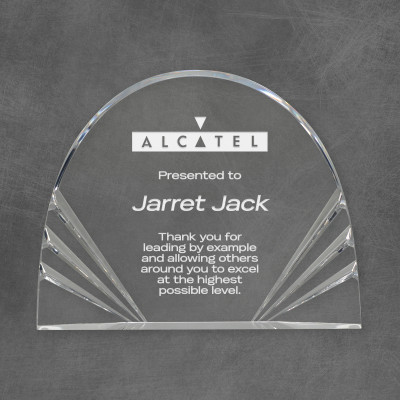 Custom Logo Rounded Acrylic Award
