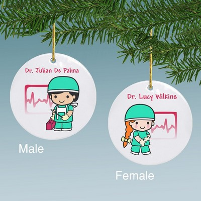 Custom Surgeon Character Personalized Ceramic Ornament