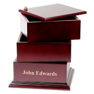 Rosewood Swing Box Desktop Organizer