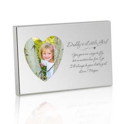 Daddys Little Girl Silver Heart Picture Frame