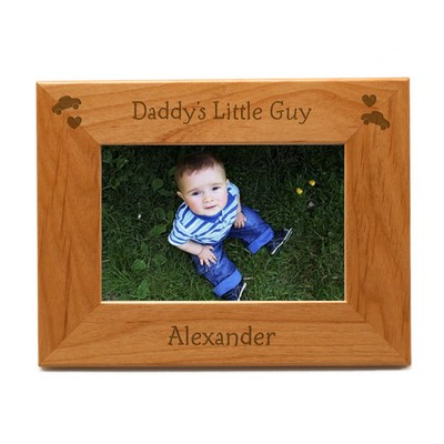 Daddys Little Guy Personalized 4x6 Picture Frame