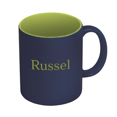 Dark Blue and Green Personalized Ceramic Coffee Mug