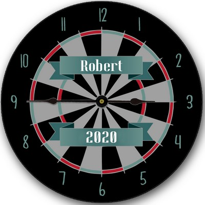 Dartboard Design Personalized Wall Clock