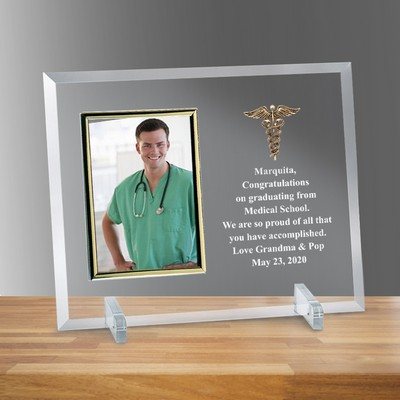 "Doctors Glass Vertical 4"" x 6"" Photo frame"