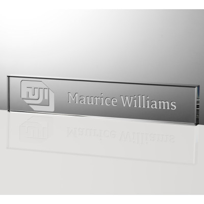 Engraved Executive Crystal Desk Nameplate