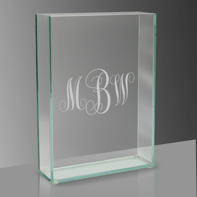 Engraved Tall Glass Flower Vase with Special Monogramming