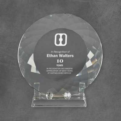Exquisite Crystal Employee Anniversary Plate