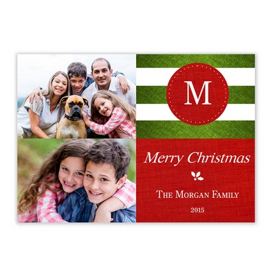 Family Initial Photo Christmas Card