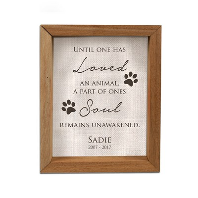 Personalized Framed Pet Memorial Shadow Box