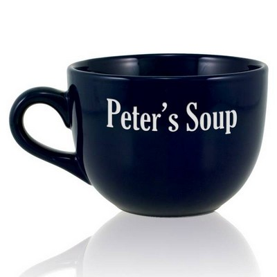 Personalized Navy Blue Jumbo Mug