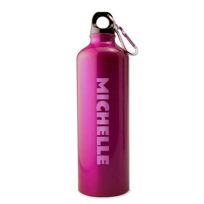 Personalized Pink Water Bottle with Name