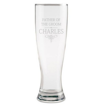 Personalized Wedding Party Beer Glass