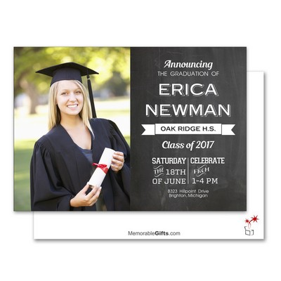Graduation Ceremony Custom Announcement Card