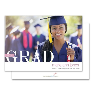 Celebrating Grad Personalized Announcement Card