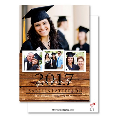 Personalized Photo Collage Graduation Announcement Card